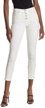 William Rast Button High Rise Skinny Ankle Crop Jeans