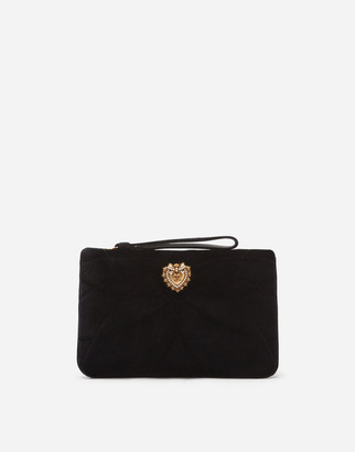 Dolce & Gabbana Quilted Velvet Devotion Clutch