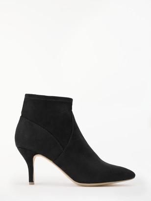 John Lewis & Partners Olivia Stiletto Ankle Boots, Black Suedette