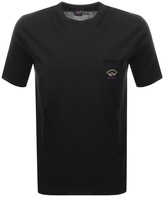 Paul & Shark Paul And Shark Logo Pocket T Shirt Black