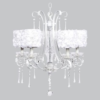 Jubilee Collection Colleen 5 - Light Shaded Classic / Traditional Chandelier Shade Color: White