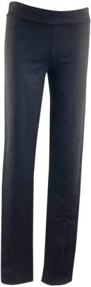The Row Anthracite Cotton Trousers