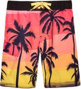 Hawke & Co Palm-Print Swim Trunks, Big Boys