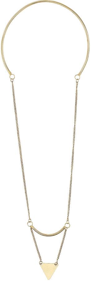 Topshop Arrow Drop Necklace