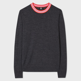 Paul Smith Men's Charcoal Grey Merino Wool-Blend Sweater With Contrasting Collar