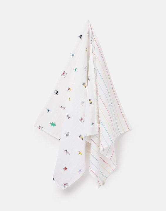 Joules Organically Grown Cotton 2 Pack Muslin Squares