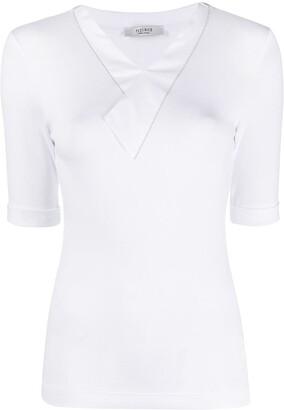 Peserico V-neck short-sleeved T-shirt