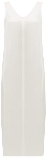 Raey High V-neck Silk Midi Dress - Ivory