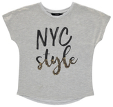 George NYC Foil Sequin Top