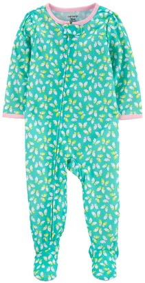 Carter's Toddler Girl Butterfly Print Footed Pajamas