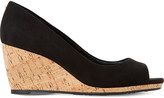 Dune Cadence suede cork wedge courts