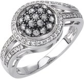 AX Jewelry SilverMist Sterling Silver 1/2ct TDW and White Diamond Fashion Ring (H-I, I2-I3)