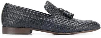 Daniele Alessandrini Tassel-Front Woven Loafers