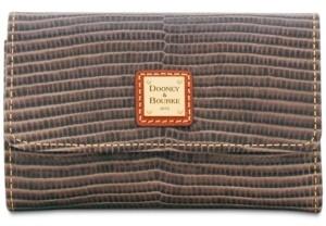 Dooney & Bourke Lizard-Embossed Leather Flap Wallet