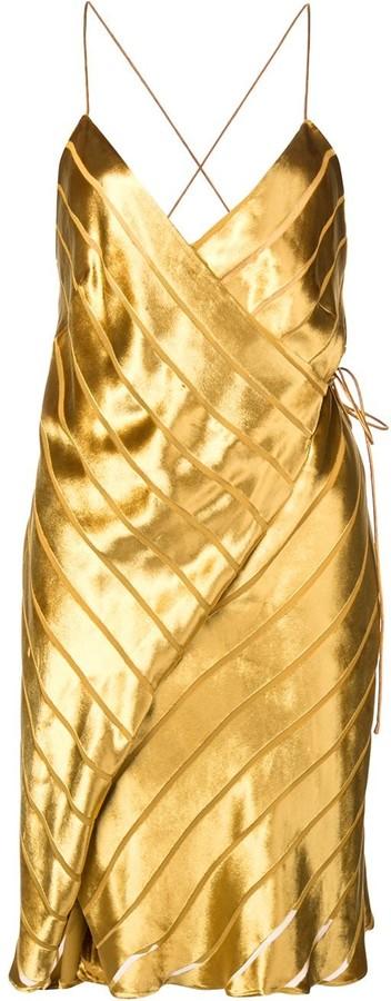 Mason by Michelle Mason strappy wrap mini dress