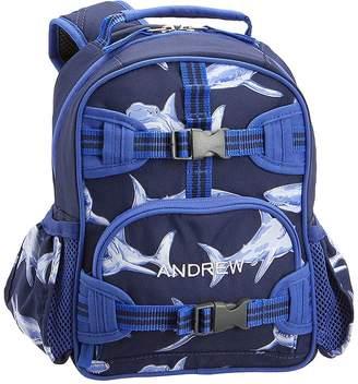 Pottery Barn Kids Mackenzie Blue Glow-in-the-Dark Shark Backpacks