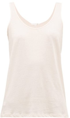 Skin Oona Pima-cotton Tank Top - Light Pink