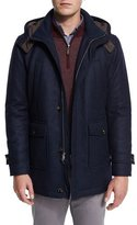 Peter Millar Matterhorn Wool/Cashmere-Blend Hooded Parka
