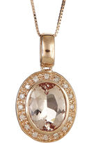 JCPenney FINE JEWELRY LIMITED QUANTITIES Genuine Morganite and 1/10 CT. T.W. Diamond Pendant Necklace