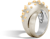 John Hardy Women's Dot Overlap Ring in Brushed Sterling Silver and 18K Gold