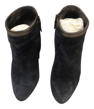 Fendi Blue Suede Ankle boots