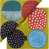 Marimekko Set of 20 Kompotti Green and Multi Paper Napkins.