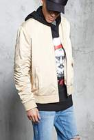 Forever 21 Ruched Sleeve Bomber Jacket