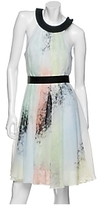 Jonathan Saunders Watercolor Silk Chiffon Dress