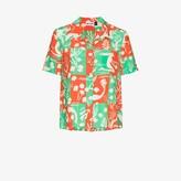 Thumbnail for your product : Rixo Rickie Sea Life Printed Silk Shirt - Women's - Silk