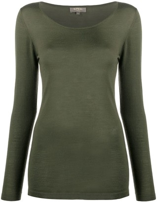 N.Peal Long Sleeved Cashmere Top