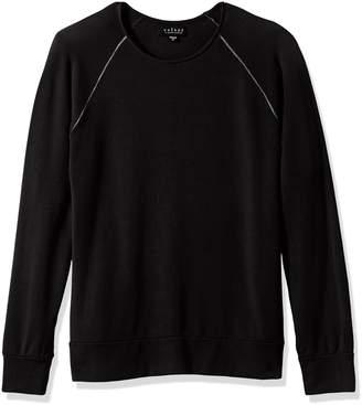 Velvet by Graham & Spencer Men's Ovid Raglan Sweatshirt in Luxe Fleece Fabric