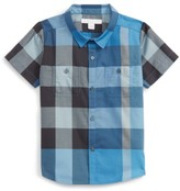 Burberry Infant Boy's Mini Camber Short Sleeve Shirt