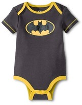 Batman Newborn Boys' Bodysuit - Gray 3-6 M
