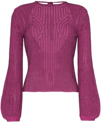 Chloé Tie Back Knitted Top