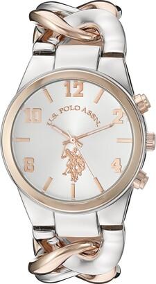 U.S. Polo Assn. Women's USC40176 Analog Display Analog Quartz Two Tone Watch