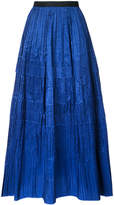 Oscar de la Renta full length pleated skirt