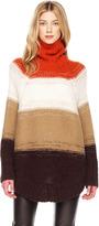 Michael Kors Wide-Stripe Poncho