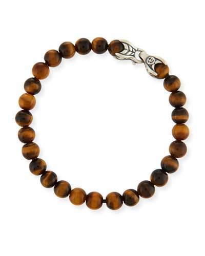 David Yurman Men's Spiritual Beads Bracelet w/ Tiger's Eye
