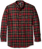 Arrow Men's Big and Tall Long Sleeve Plaid Flannel Shirt
