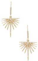 Artisan 18K Yellow Gold & 0.95 Total Ct. Diamond Hanging Star Earrings