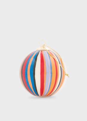 Paul Smith Hand-Painted Signature Stripe Glass Bauble
