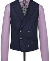 Charles Tyrwhitt Navy adjustable fit British serge luxury suit waistcoat