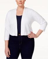 Calvin Klein Plus Size Lace-Back Cropped Cardigan