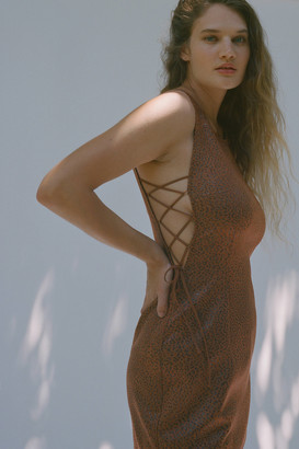Urban Outfitters Lace It Up Animal Print Mini Dress