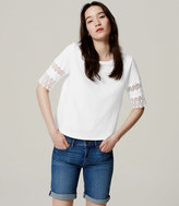 LOFT Scallop Lace Tee