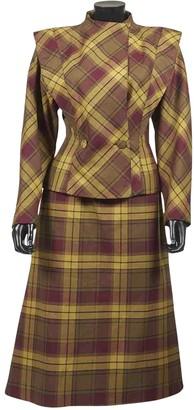 Emmanuelle Khanh Khaki Wool Jacket for Women Vintage