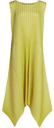 Pleats Please Issey Miyake Sunlight Sleeveless Midi Dress
