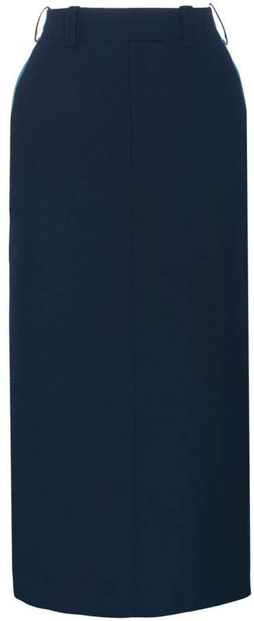 Calvin Klein side detail midi skirt