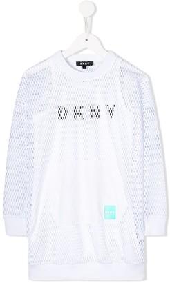DKNY Layered Mesh Dress