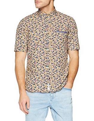 Signum Men's 191548263-663 Casual Shirt, Estate Blue 663, (Size: Medium)